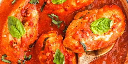 Creamy Tomato Basil Chicken Skillet